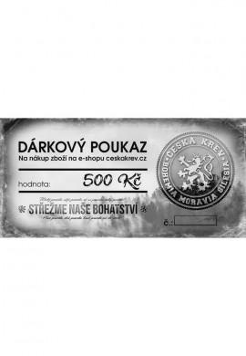 Dárkový poukaz Česká Krev (500 Kč)