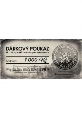 Dárkový poukaz Česká Krev (1 000 Kč)