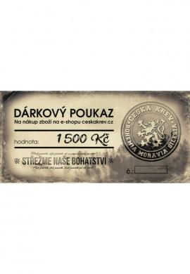 Dárkový poukaz Česká Krev (1 500 Kč)
